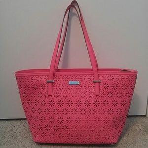 Kate Spade preforated flower handbag